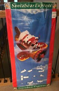 RARE Airplane Santa Bear 1987 Dayton-Hudson Santa Bear AIRPLANE NEW! In Wrapper.