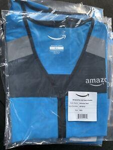Blue Amazon DSP Delivery Driver Flex Vest Reflective M/L Brand New