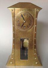 Style art déco laiton horloge commodes-pendulette COULTRE mantle clock CROIX flèche ~ 1910