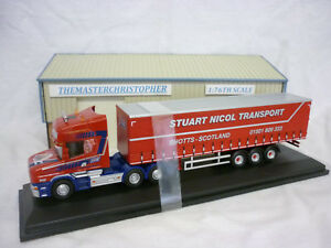 Oxford Diecast/Modern 1:76th Truck Scania T-cab Curtainside SNT 76TCAB010