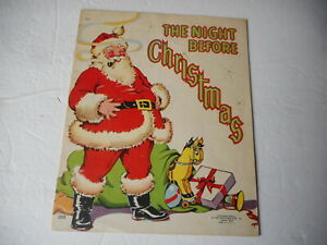 The Night Before Christmas Linen Book 1942