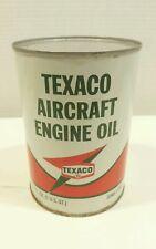 Vintage TEXACO Aircraft Engine Oil / 120 - 70 W FULL Can / 5-68 ( 50+ Yrs.)