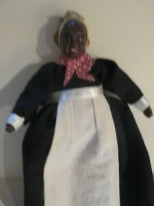 VINTAGE  BLACK AFRICAN AMERICAN DOLLHOUSE DOLL  1:12TH SCALE