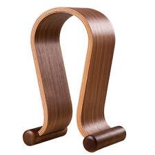 Samdi Walnut Wooded Headphones Gaming Headset Holder Display Stand Hanger W8Z6