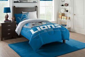 Detroit Lions Twin Bedding Comforter & Sham set (Draft) OFFICIAL NFL
