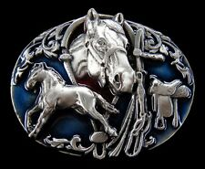 Equestrian Belt Buckle Mere Horses Ranch Cowgirl Western Boucle De Ceintures
