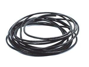 100cm long Black 2mm Round LEATHER Cord Bracelet Necklace choker lacing Rats Bum