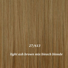 """17-30"""" Long Clip in on Hair Extensions One Piece 5Clips Curly Straight Hair ss35"""
