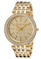 Michael Kors Women's MK3398 Darci Gold Crystal-Set Dial Gold Tone Watch