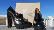 NEW 42 BURBERRY PRORSUM Parker ITALY $695 Monk double buckle platform shoe black