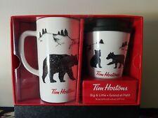 Tim Hortons 2018 Big & Little Bear Coffee Travel Mug Set