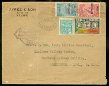 BRAZIL : 1931 Zeppelin cover to USA.