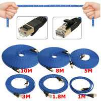 1~10M Durable Strong Blue Cat 7 RJ45 Network LAN Patch Ethernet Cable Cord UK