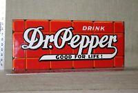 DR PEPPER SODA POP BRICK PORCELAIN SIGN GAS OIL FARM BARN GENERAL STORE DRINK