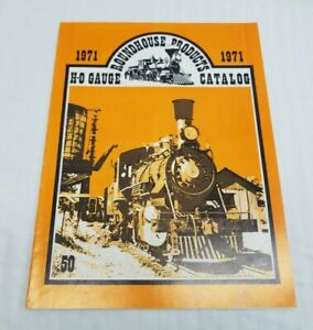 Vintage 1971 Roundhouse Products Model Train Railroad Railway Catalog Book