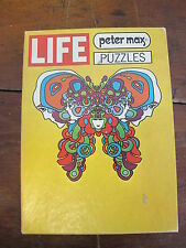 Beautiful Vintage LIFE Magazine Peter Max Art Puzzle BUTTERFLY 1970 - complete