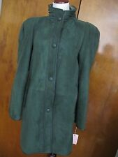 Adarcrea S.L Women's Green Sheep Fur Mid Long Winter Coat Made In Spain 10 NWT