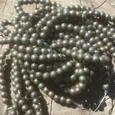 """6mm Natural Smooth Pyrite Beads 15"""" Strand Oz Seller"""