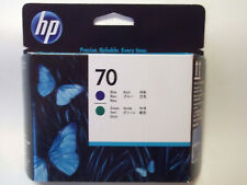 HP 70 DesignJet Printhead Ink Cartridges Blue / Green C9408A - MAR 2022