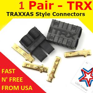 1 Pair TRX TRAXXAS CONNECTOR PLUG LIPO NIMH E-REVO SLASH RALLY SUMMIT USA FAST