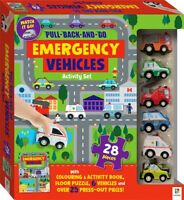 PULL BACK AND GO!  EMERGENCY VEHICLES ACTIVITY SET KIDS PLAY LEARN NEW