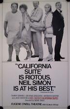 BROADWAY  POSTER-CALIFORNIA SUITE-1976  ORIG.  POSTER RICHARD AVEDON PHOTO