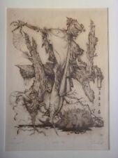 Quo Vadis?- Viesturs Silvestrs Grants - Latvian Master Print Artist Etching 1988