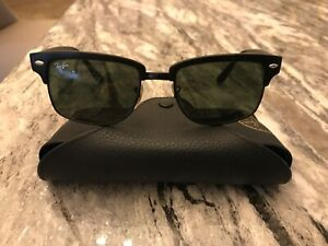 Ray-Ban sunglasses RB4190 Black frames with Crystal Green lenses, hardly used.