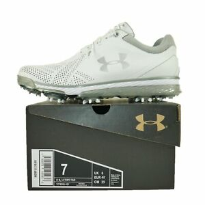 Under Armour Tempo Tour Waterproof Spiked Golf Cleats Shoes Men's Size 7 White