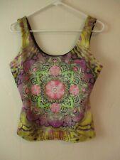 Soft Surroundings Women's Top tank mandala pattern yoga hippy