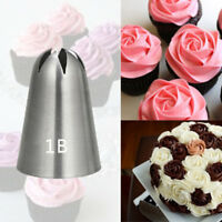 #1B Large Stainless Steel Pastry Tips Tool Rose Flower Cream Icing Piping Nozzle