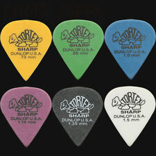 6 x Dunlop Tortex Sharp Guitar Picks / Plectrums - 1 Of Each Type