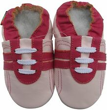 shoeszoo  sports fuchsia pink 12-18m S soft sole leather baby shoes