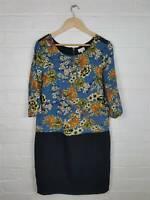 Next Tall Blue Floral 'Tall' Tunic Dress Size UK 12
