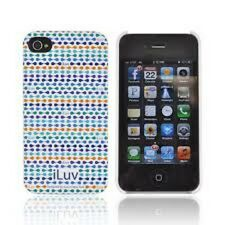 iLuv Festival Hardshell Case For iPhone 4/4S Series ICC763BLU New in Pack