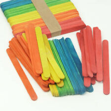 Coloured Wooden Lollipop Lolly Sticks X 100 (11cm) Arts & Crafts Children Kids