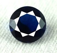 Natural Round Blue Tanzanite 2.15 Ct Loose Gemstone 8 x 8 mm AGI Certified DF30