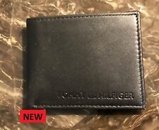 AUTHENTIC BRAND NEW TOMMY HILFIGER LEATHER WALLET BLACK  NO BOX L@@K -----.-----