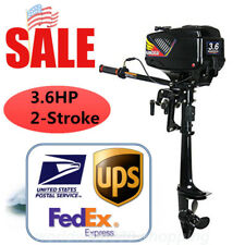 2 Stroke 3.6HP Outboard Motor Boat Engine Heavy Duty w/Water Cooling System USA
