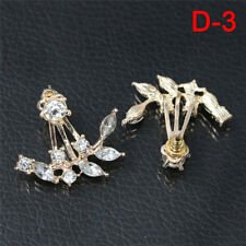1 par de mujeres dama elegante cristal Rhinestone oreja Stud aretes encanto