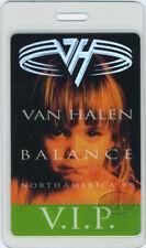 Van Halen 1995 N. American Laminated Backstage Pass Vip