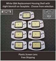 GBA Nintendo Game Boy Advance Replacement Housing Shell Screen White Blemished