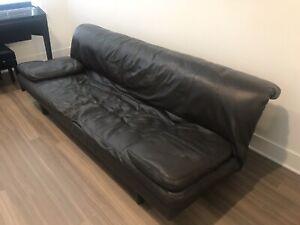de Sede DS-169 Leather Convertible Sofa (Designed by Ernst Ambühler)Basalt Color