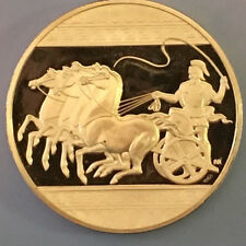 The Charioteer Roman Chariot Horse Medal Silver Coin Franklin Mint