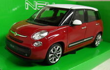 Nex models 1/24 Scale 24038W 2013 Fiat 500L Red White Diecast model car