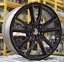 "19"" Ford Mustang 2011 2012 2013 2014 Factory OEM Rim Wheel 3862 Gloss Black Set"