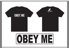 fb8870be60 Men's Ladies Tshirt OBEY ME, OBEY HER, OBEY HIM, HIS SLAVE, HER