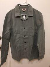 NEW J.Crew Wallace & Barnes Twill Cotton Counter Coat Light Cypress Gray Small