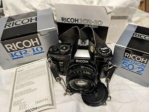 Ricoh KR-10 Super Auto/Manual Camera SLR Camera & Rikenon 50mm Lens