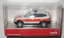 Herpa 048590 BMW X3 ELW Einsatzleitwagen Werksfeuerwehr Salzgitter 1:87 HO